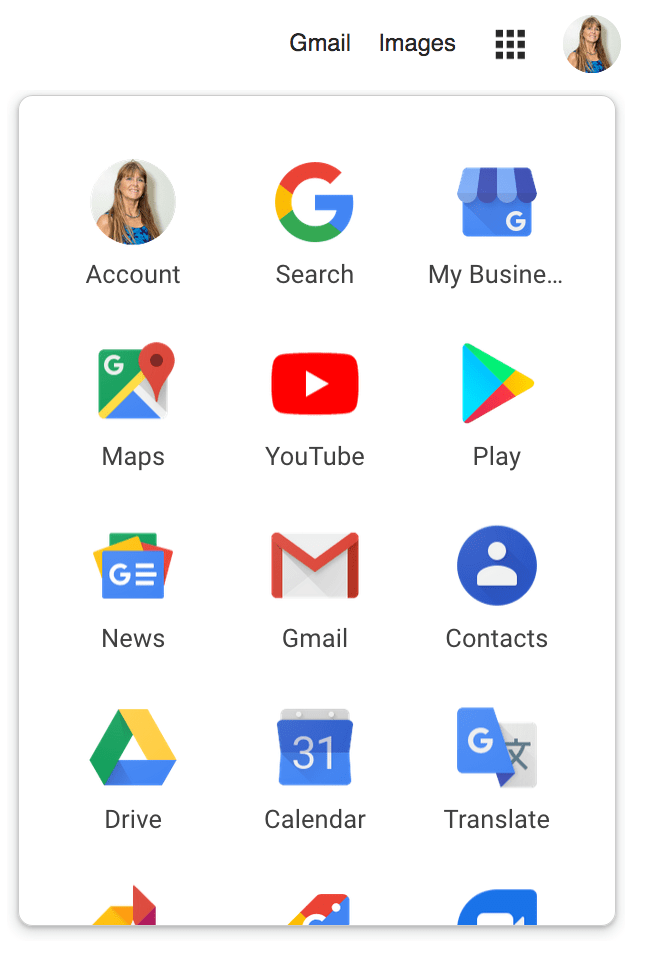 """Find """"My Business"""" in the Google Control Palette."""